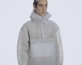 HOODIE  3D NET / design / unique / handmade / modern / fashion / blouse / coat