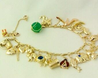 SENSATIONAL charm bracelet, VOLLBESTÜCKT of m. selected Aanhängern, unworn