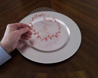 SETOF 24 PIECES Monogram Charger Art for  your charger plates - table decor, weddings, special events, banquets, anniversaries,  parties