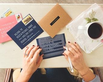 The Lettermate // Handbook & Faux Envelopes