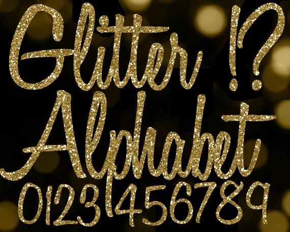 Gold Glitter Alphabet Clipart: Glitter Alphabet Clip Art, Gold Glitter ...