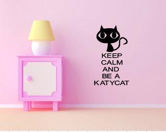Kitten Black Cat Vinyl Wall Decal Animal Art
