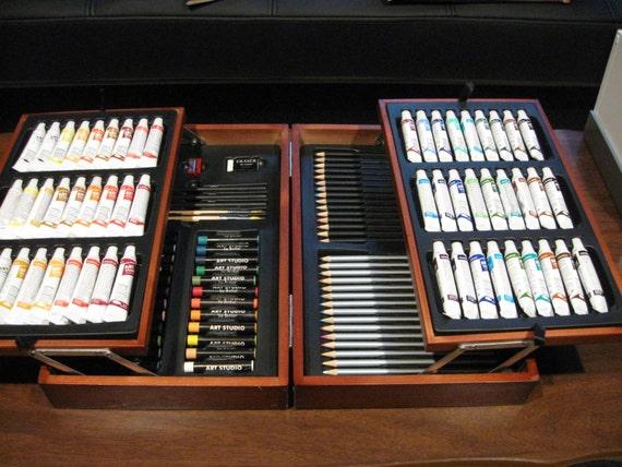 Art Studio By Battat 116 Piece Set With Paint Pastels
