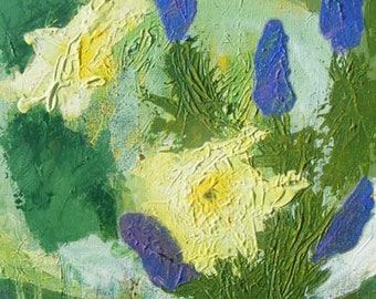 Hyacinth and Yellow Daffodil