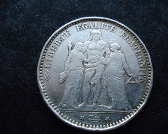 French coin 5 franc 1873