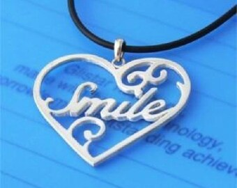 Sterling 925 Silver Name Necklace - Name Inside a Heart