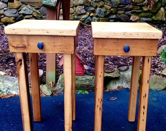 Wormy chestnut end tables