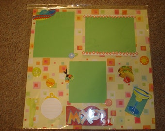 Premade 12x12 Scrapbook Page - VACATION / MEXICO!
