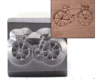 Bicycle Metal Design Stamp / Hipster Bicycle Metal Stamp - Metal Stamping / Punch Tools for Metal Stamped DIY  Jewelry Making Tools (DS225)