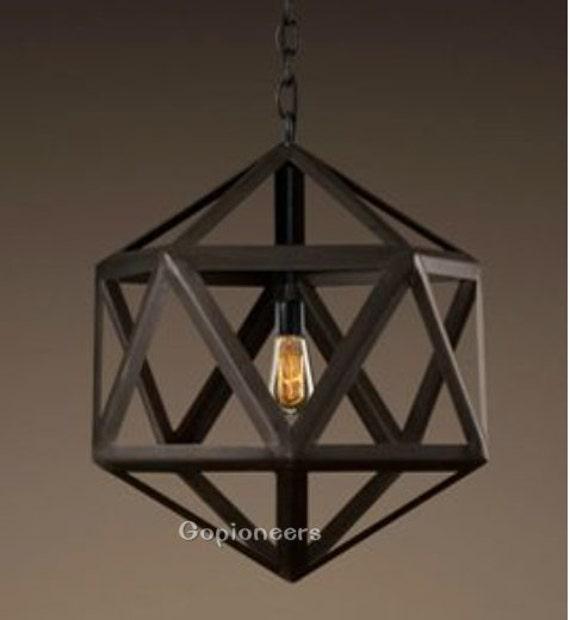 new wrought iron lantern pendant light fixture by gopioneers. Black Bedroom Furniture Sets. Home Design Ideas