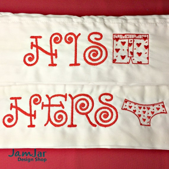 Items similar to his and hers pillowcases embroidered