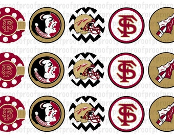 Florida State Inspired Bottle Cap Images