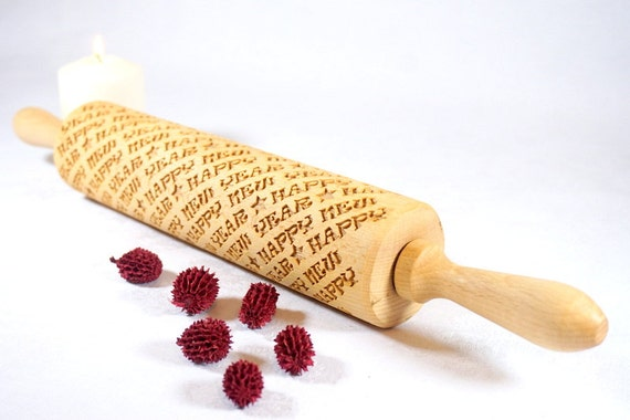 HAPPY NEW YEAR!!! - Embossing rolling pin for cookies