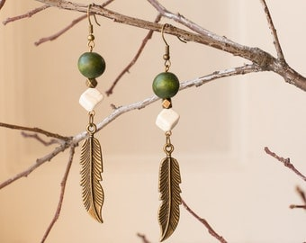 Woodland Feather Earrings