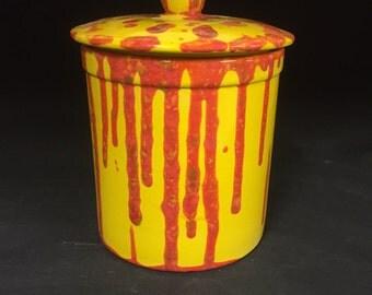 Student Painted Yellow & Orange Cookie Jar