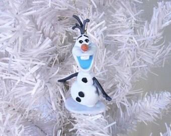 Christmas,Ornaments,Disney,Frozen,Olaf,PVC,Custom,Disneyana,Snowman,Magic