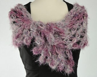 scarf made of crochet