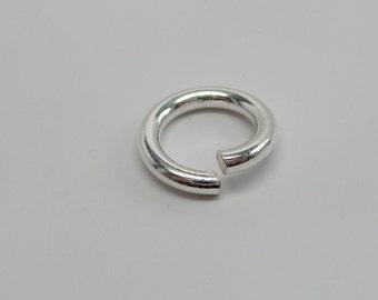 925 solid Sterling silver jump rings open.  12 mm. handmade. Wholesale. JR10