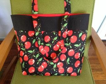 Retro Cherry tote