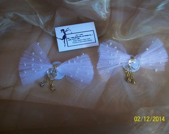 Jewel of shoes, Clips of white shoes, for marriage or ceremonies for women