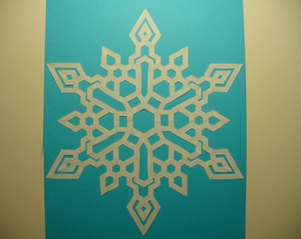 Original Abstract Paper Snowflake