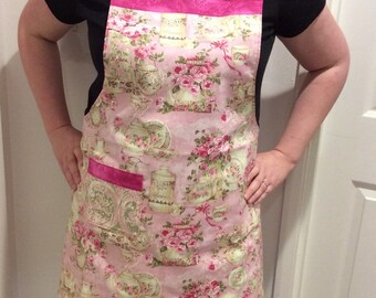 Reversible Shabby Chic Pink Apron
