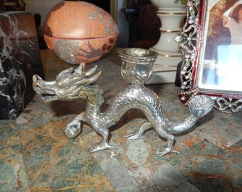 CHINESE DRAGON CANDLEHOLDER