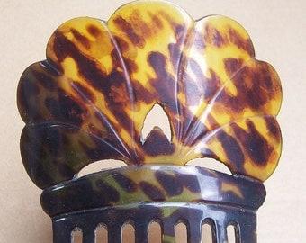 Antique Hair Comb Victorian Spanish Comb Steer Horn Hair Accessory Hair Jewelry Hair Ornament Hair Pin Hair Pick Hair Fork Headdress