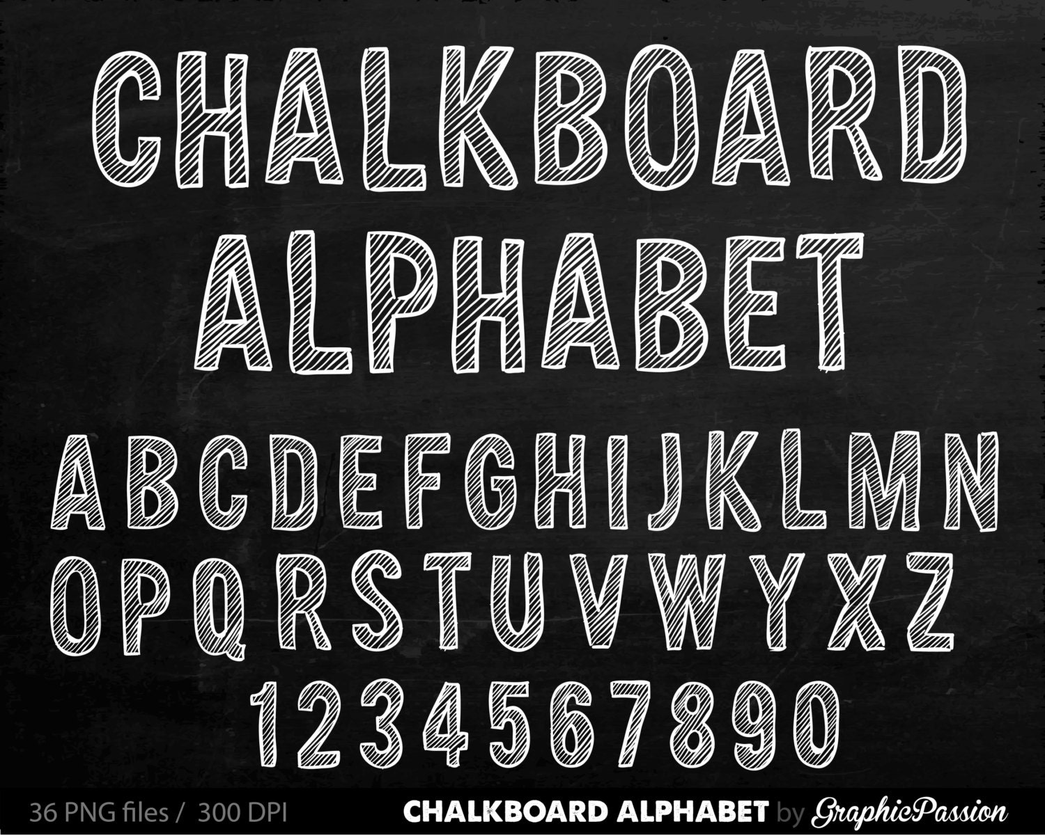 Alphabet chalkboard clipart digital chalk alphabet clip art for Blackboard with white removable letters