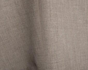 Natural Flax Linen Fabric, organic grey pure linen fabric, medium weght 100 pct linen fabric, dense, high quality, yardage, lin, leinen