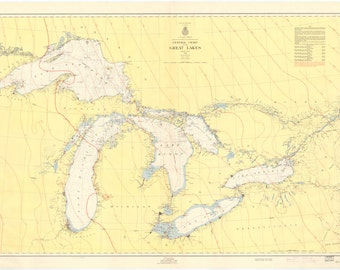Great Lakes Historical Map 1955