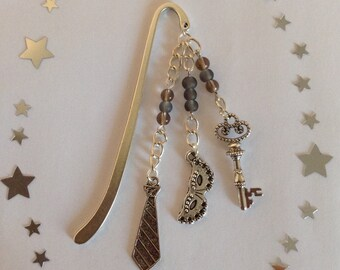 Handmade hook bookmark inspired by 50 Shades of Grey - lovely gift idea!
