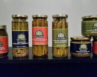 Asparagus Guacamole and Salsa