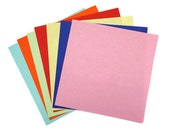 105 origami paper sheets in seven colors - small sze origami sheets