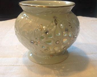 Formalities by Baum Bros., vintage candle holder, ceramic potpourri holder