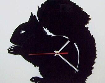 "Acrylic wall clock - ""Squirrel"""