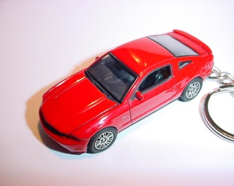3D 2010 Ford Mustang GT custom keychain by Brian Thornton keyring key chain opening hood design