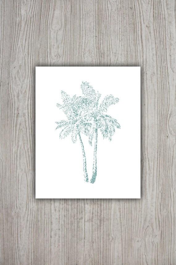 Palm Tree Decor Tropical Print Summer Wall Art Palm