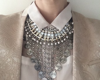 """Stacked Statement Necklace- """"Muse"""" Wrecklace"""
