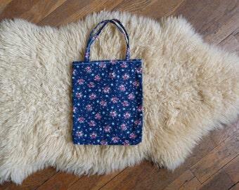 Small bag - floral fabric bag