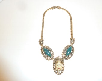 Selro Selini Asian Princess Parure Necklace and Earrings