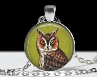 Owl Jewelry Pendant Wearabel Art Owl Necklace