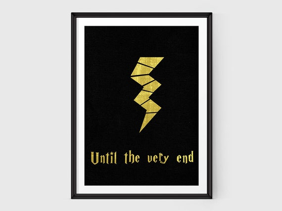 Harry Potter Until The Very End Quote Quora: Items Similar To Until The Very End Harry Potter Print