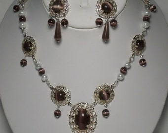 Queen Necklace and Earrings Renaissance Tudor Style