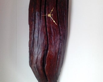 hand crafted driftwood wall clock