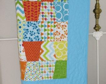 Baby boy tumbler quilt
