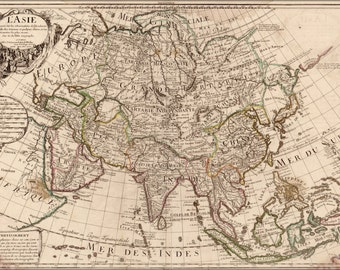 24x36 Poster; Map Of Asia 1700 In French P2