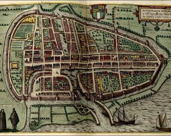 24x36 Poster; Map Of Rotterdam 1612