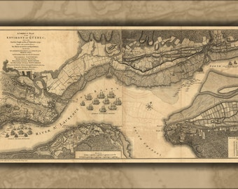 24x36 Poster; Map Of The Environs Of Quebec 1768
