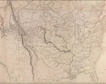 24x36 Poster; 1814 Map Of North America United States And Canada